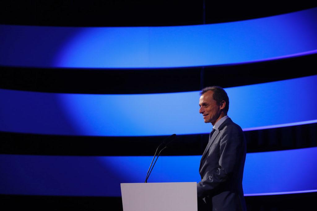 Pedro Duque en el Congreso del Espacio