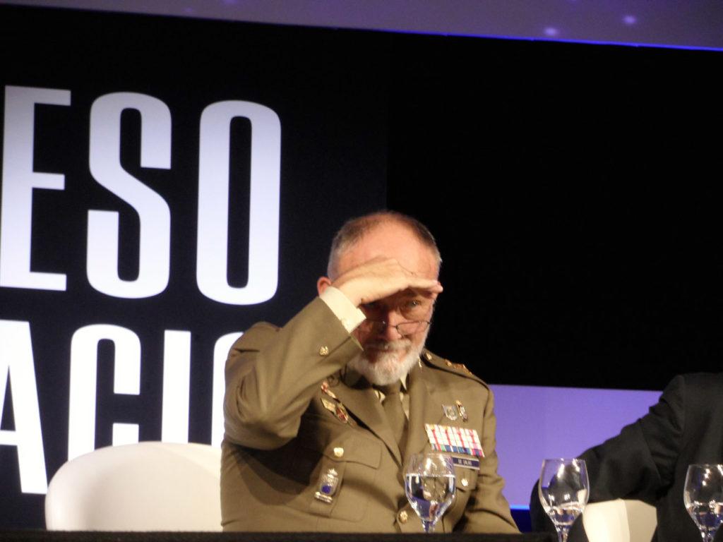 """Al frente de los asuntos espaciales de la DGAM, el general Carlos de Salas asegura que CSO y PNOTS 2 van """"por buen camino"""" Foto: Juan Pons"""