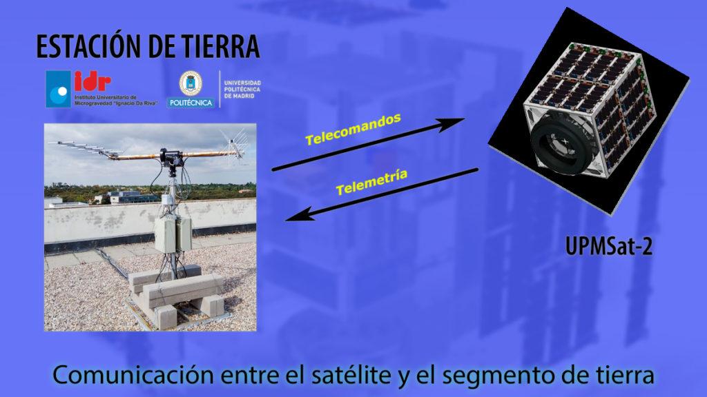 Comunicaciones con el satélite UpmSat-2