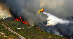 batalla aérea contra los incendios