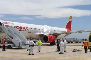 vuelo Madrid-Lanzarote pasajero coronavirus