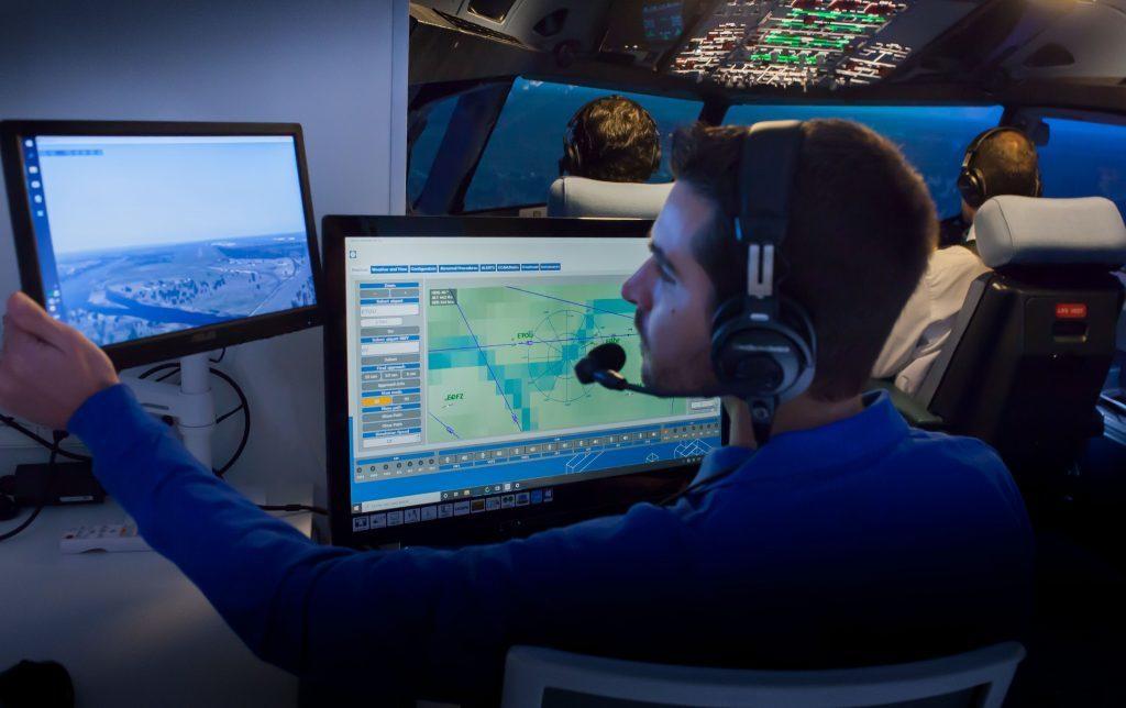 simulación aérea