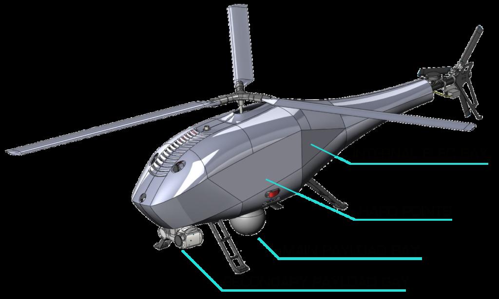 helicóptero UAV Alpha 900