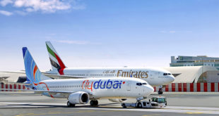 Emirates y flydubai en dubai