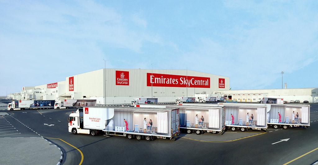 centro de carga Emirates sky Cargo Dubai