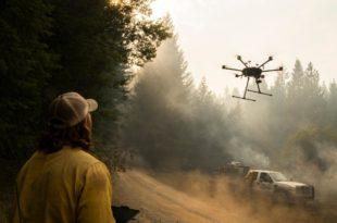 drones incendios forestales
