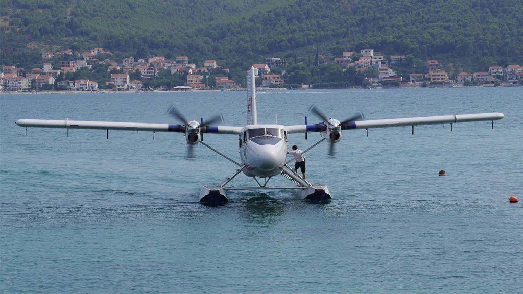 Foto de una Twin Otter de European Coastal Airlines, la aerolínea sobre la que se inspira a Isla Air.