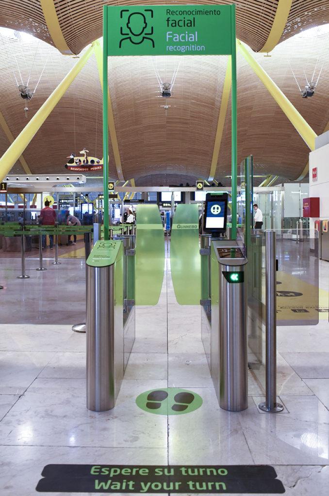 detección biométrica de pasajeros