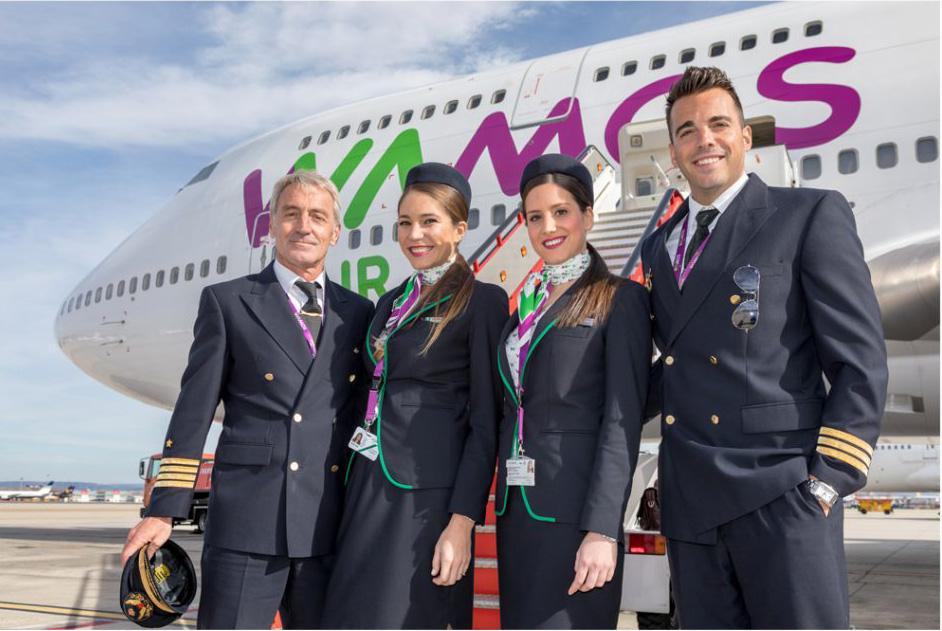 tripulaciones aéreas wamos air vacunación urgente