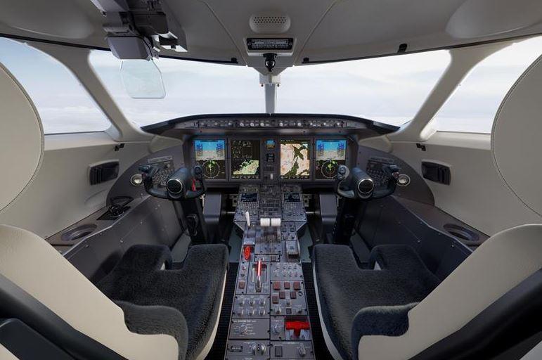 Cabina moderna Challenger 350